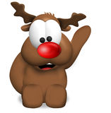 Reindeer Christmas red nose Royalty Free Stock Photos