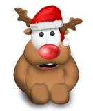 Reindeer Christmas red Stock Image