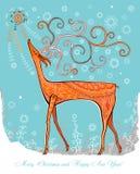 Reindeer and a Christmas star. Stock Photos