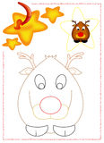 Reindeer coloring Stock Photos