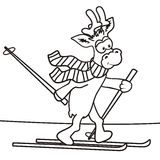 Reindeer - coloring Stock Image