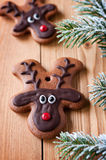 Reindeer cookie Stock Photography