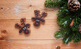Reindeer cookie Royalty Free Stock Images