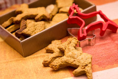 Reindeer cookies. For Christmas, food composition Stock Image