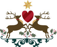 Reindeer Crest Royalty Free Stock Images