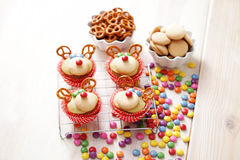 Reindeer cupcakes Royalty Free Stock Photography