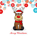 Reindeer dressed as santa Royalty Free Stock Photography