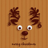 Reindeer Face for Merry Christmas celebration. Royalty Free Stock Image