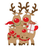 Reindeer family Royalty Free Stock Photos