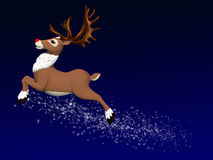 Reindeer Flying 1 Royalty Free Stock Images
