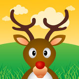 Reindeer in forest Stock Photography