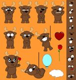 Reindeer funny baby cartoon set pack Royalty Free Stock Images
