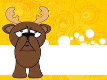 Reindeer funny cartoon background card5 Royalty Free Stock Photography