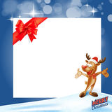 Reindeer gift card frame Royalty Free Stock Images