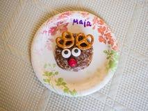 Reindeer gingerbread cookie Stock Images