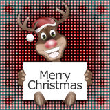 Reindeer Happy Christmas Smile. Abstract Creative Background Royalty Free Stock Photography