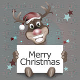 Reindeer Happy Christmas Smile. Creative Background Design Stock Images