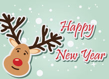Reindeer Happy New Year. Vector illustration Royalty Free Stock Image