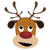Reindeer head isolated on white background. Vector Ai available. royalty free illustration