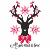 Reindeer with hearts Royalty Free Stock Images