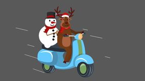 Reindeer on his scooter