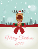 Reindeer holding Board Royalty Free Stock Photography