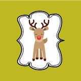 Reindeer icon. Merry Christmas design. Vector graphic Stock Photos