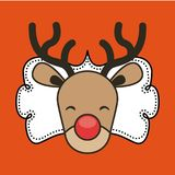 Reindeer icon. Merry Christmas design. Vector graphic Stock Image