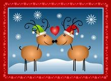 Reindeer In Love Christmas Royalty Free Stock Image