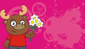 Reindeer kid cartoon background card8 Royalty Free Stock Images