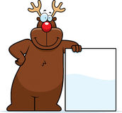 Reindeer Leaning Stock Photography