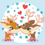 Reindeer Love Royalty Free Stock Photography