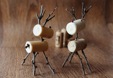 Reindeer. Made from cork and twigs stock images