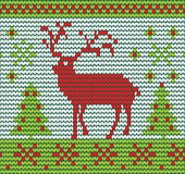 Reindeer made of wool Stock Photography
