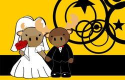 Reindeer married cartoon background Royalty Free Stock Image