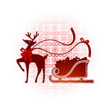 Reindeer with nordic background Stock Image