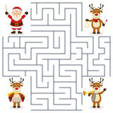 Reindeer Orchestra Maze for Kids Stock Photography