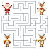 Reindeer Orchestra Maze for Kids royalty free illustration