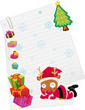 Reindeer and paper note Stock Images