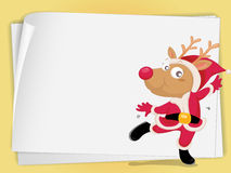 Reindeer and paper sheets royalty free illustration
