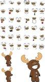Reindeer plush cartoon Royalty Free Stock Images