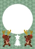 Reindeer Postcard Vector Stock Photo