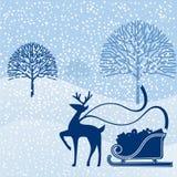 Reindeer prancing through glen Royalty Free Stock Photos