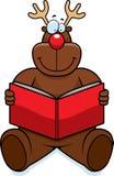 Reindeer Reading Royalty Free Stock Photos