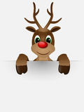 Reindeer with red nose. Royalty Free Stock Photo