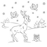 Reindeer Rudolf Royalty Free Stock Photography