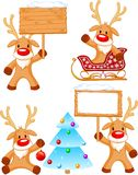 Reindeer Rudolph. Four separately grouped little Rudolphs. Vector illustration Royalty Free Stock Images