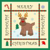Reindeer Rudolph. Santa's Helper Reindeer Rudolph Red Nose Royalty Free Stock Photo