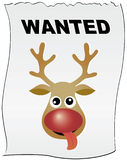 Reindeer Rudolph wanted Stock Photo