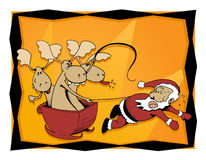 Reindeer and Santa Royalty Free Stock Image